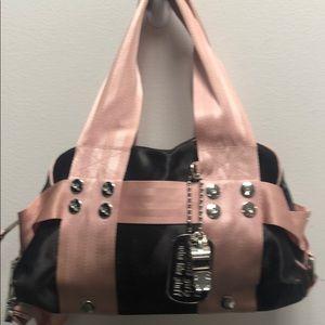Juicy Couture Black Nylon w/ Pink Strap Details